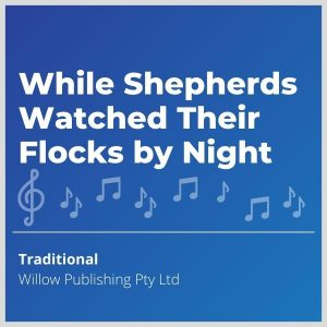 Blue-cover-music-While-Shepherds-Watched-Their-Flocks-by-Night